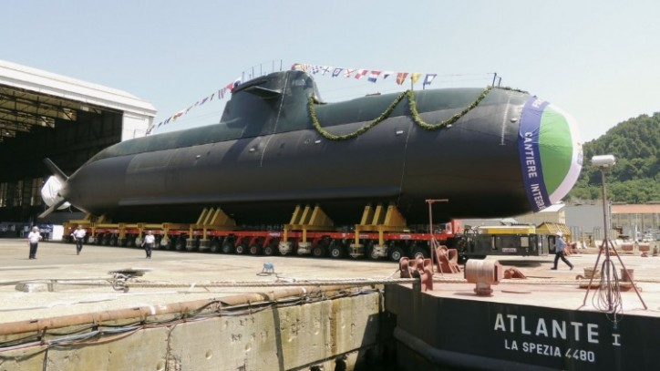 Italian Navy launches fourth Type 212A submarine