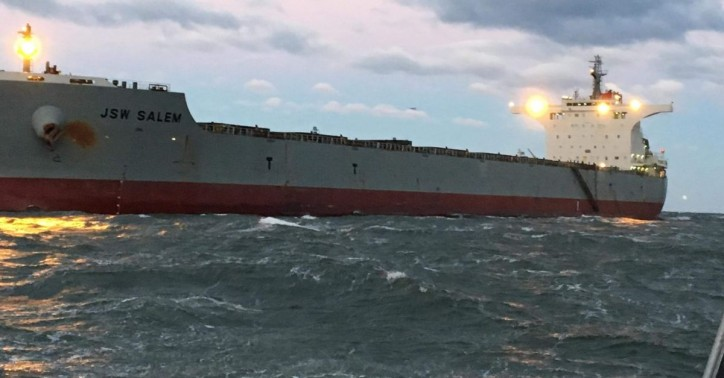 US Coast Guard assists aground cargo ship near Virginia Beach, Va.