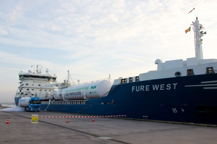 North Sea Port and Titan LNG successfully supply sea-going vessel with LNG fuel