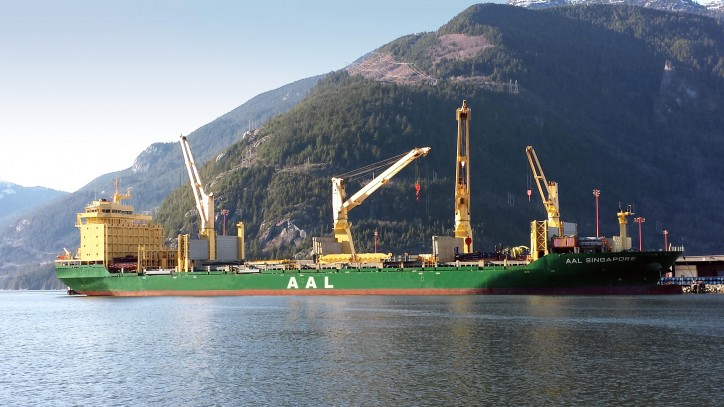 AAL Delivers 'Mobile' Grain Shiploader To Port Metro Vancouver