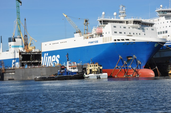 Finnlines' first lengthened vessel delivered