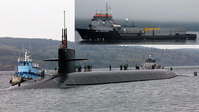 US ballistic missile submarine collides with support boat in Pacific Ocean
