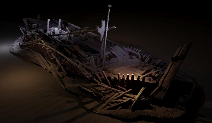 Photogrammetric model of a wreck from Ottoman period
