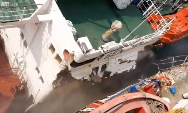 VIDEO: Ship Allision in Rostov-on-Don, Russia