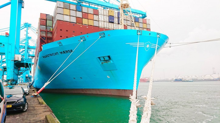 Maastricht Maersk makes a maiden call to Rotterdam and honours Maersk's commitment to The Netherlands