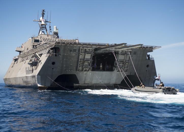 U.S. Navy's littoral combat ship, USS Coronado, Completes Survivability Test
