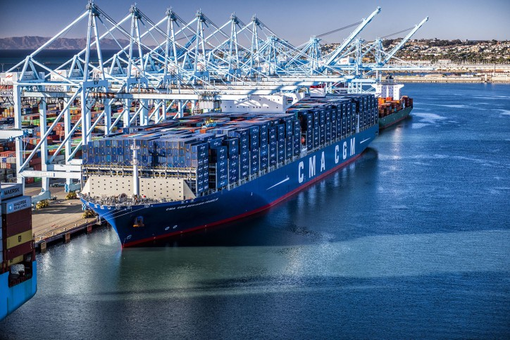 VIDEO: CMA CGM's Sea Giant Arrives in LA