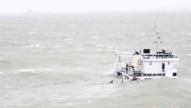 Six crew rescued, one dead after Chinese cargo ship sank in typhoon