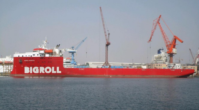 BigRoll Shipping takes delivery of First MC-Class Newbuild - BigRoll Barentsz