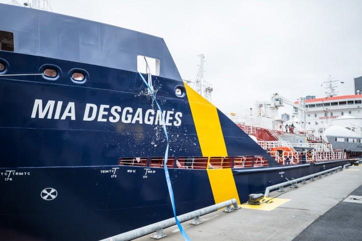Desgagnés christens the MT Mia Desgagnés - First polar-class dual-fuel product/chemical tanker