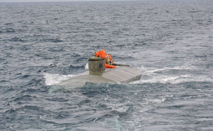 Semi-submersible ship loaded with 3 tons of drugs intercepted by Ecuadorian Navy