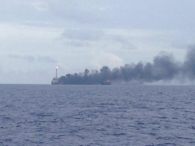 Petrobras' FPSO P-48 catches fire