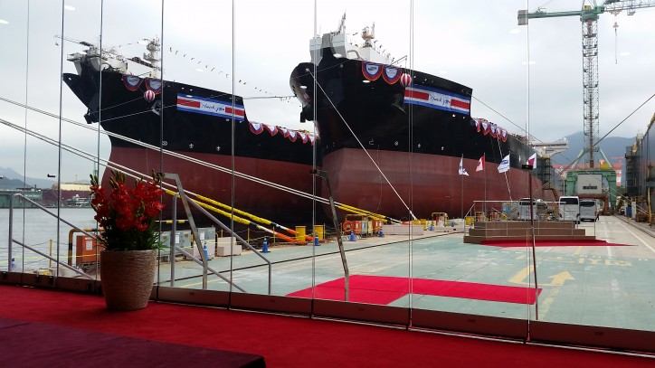 Video: Teekay holds triple naming ceremony for its newest shuttle tankers at SHI shipyard in Korea