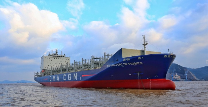 Delivery of the CMA CGM FORT DE FRANCE, the first vessel of the new fleet dedicated to the French West Indies