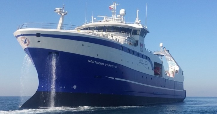 Skipsteknisk-designed Arctic shrimp trawler build for MV Osprey Ltd. christened at Tersan Shipyard, Turkey