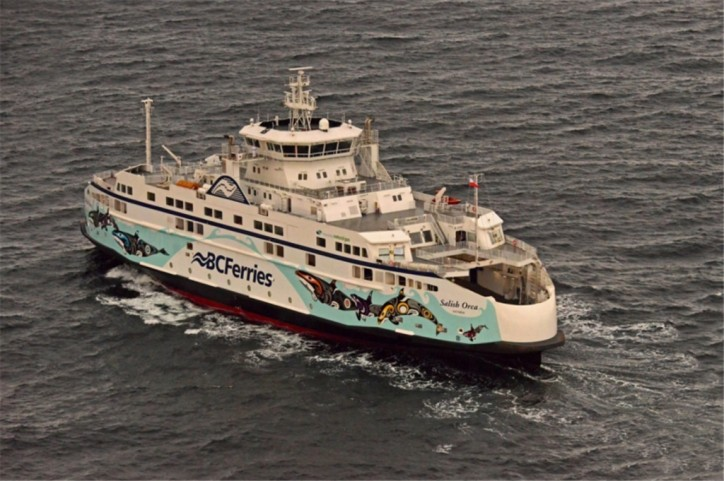 BC Ferries' First New Salish Class Vessel Sets Sail for British Columbia