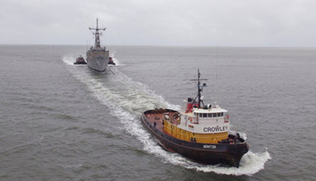 Crowley Tows Ex-USS Taylor from Philadelphia to Charleston