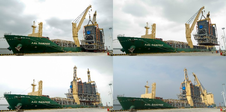 Spotted: AAL Dampier successfully lifted and loaded one of the heaviest single units of cargo ever to board one of AAL vessels
