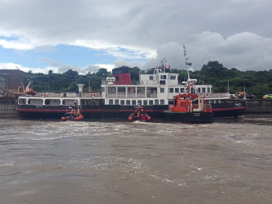 Royal Iris Ferry Grounded at Manchester Ship Canal with 69 Passengers  on board