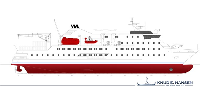 KNUD E. HANSEN design - Passenger Cargo vessels for India