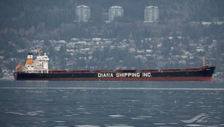 Diana Shipping signs time charter contract for mv Naias with Phaethon