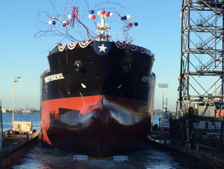 NASSCO Launches the Independence, First ship in Series of ECO Class Tankers for SEA-Vista Fleet