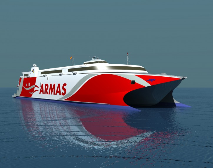 Australian shipbuilder Incat awarded shipbuilding contract by Naviera Armas for a new vehicle-passenger ferry