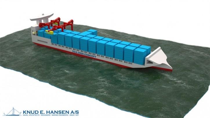 TCX-3000 Concept Fast Trimeran-Type Feeder Vessel