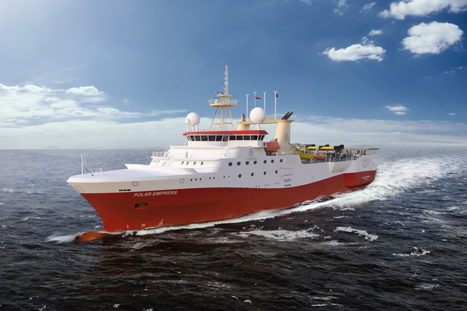 Dolphin's New Seismic Vessel Polar Empress in operation in Barents Sea