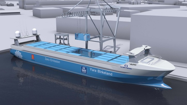 YARA selects Norwegian shipbuilder VARD for zero-emission vessel Yara Birkeland
