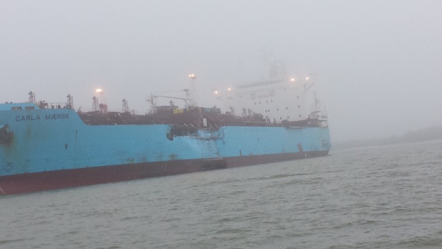 M/T Carla Maersk damaged