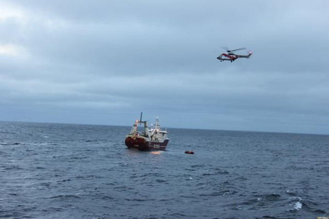 UK-flagged fishing trawler caught fire in Barents Sea