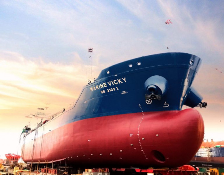 Singapore's first dual-fuel bunker vessel named Marine Vicki