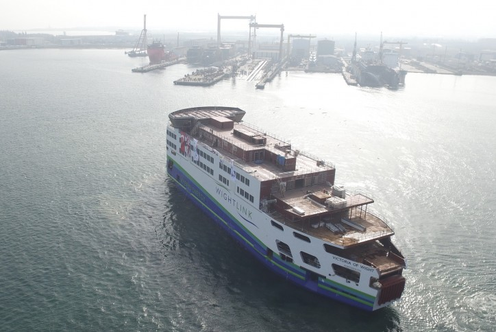 Wightlink's new flagship Victoria of Wight takes shape