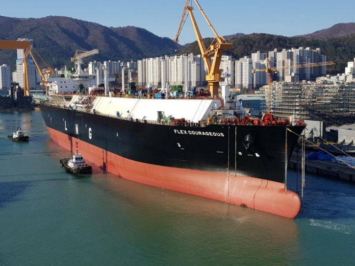 South Korea's DSME launches Flex LNG carrier