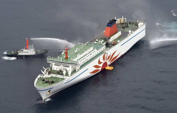 Fire breaks out on ferry off Hokkaido; One missing