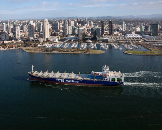 General Dynamics NASSCO Delivers Second LNG-Powered Containership - Perla Del Caribe