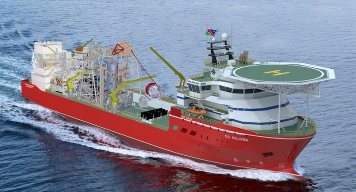 Kleven Verft Launches Diamond Sampling and Exploration Vessel - SS Nujoma (Video)