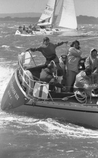 1973: It was a rough initiation into Cowes Week racing for Prince Andrew, 13, when he went out in Yeoman XIX with his father Prince Phillip, who was at the helm during the Britania Challenge Cup race