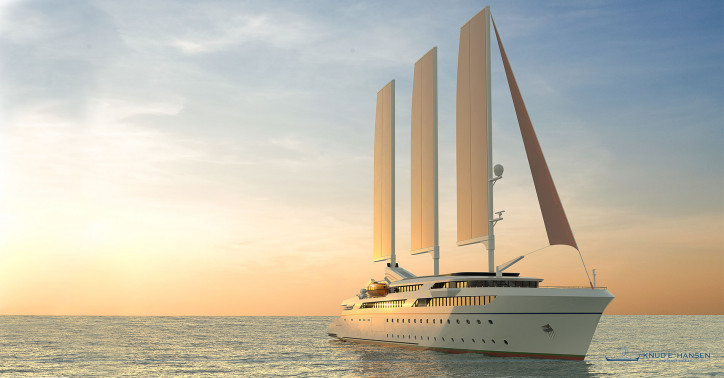 Knud E.Hansen Reveals its Latest Ship Design - A 110-metre Adventure Wind Cruise Vessel