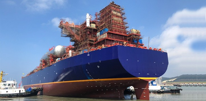 Milestones come in pairs for the maritime gas silk road: Launching of the first 85,000cbm VLEC and steel cutting of the second