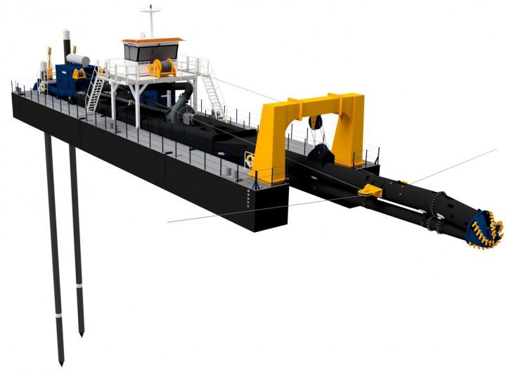 Damen unveils innovative deep cutter suction dredger's design