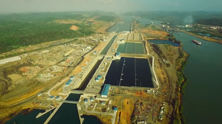 Panama Canal Expansion Progress Update - February 2016 (Video)