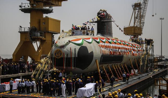 Scorpene submarine launched at