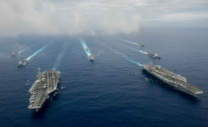 Two US Aircraft Carriers Launch Joint Exercises Off Philippines Ahead of South China Sea Verdict