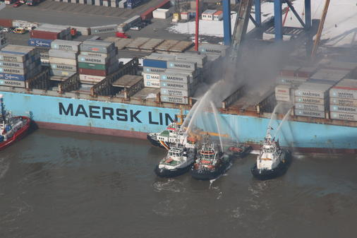 Maersk Karachi on fire 3