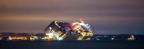 Hoegh Osaka beached