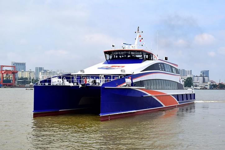 Incat Crowther-designed 40m Catamaran Passenger Ferry Jiang Men launched