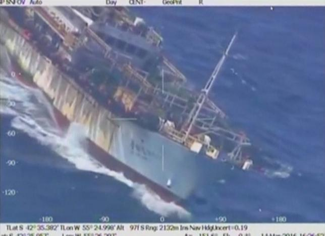 Argentina coast guard sinks Chinese trawler fishing illegally (Video)