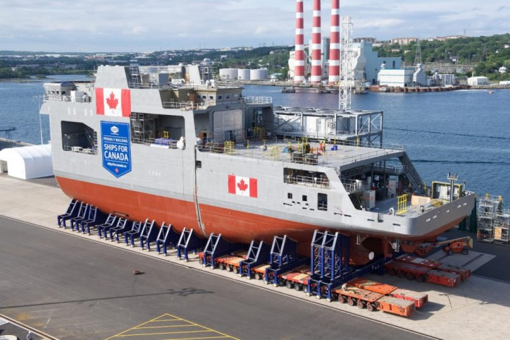 Canada's arctic and offshore patrol vessel Harry DeWolf reaches another milestone